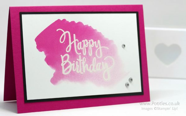 Stampin' Up! Demonstrator Pootles - Beautiful Birthday Cards Watercoloured