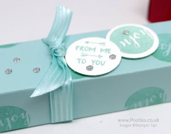 Stampin' Up! Demonstrator Pootles - Fold Flat Patreon Gift Boxes using Stampin' Up! Supplies Stamped Detail