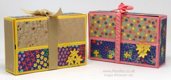 Stampin' Up! Demonstrator Pootles - Hinged Box using Stampin' Up! Affectionately Yours DSP
