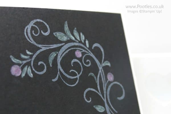 Stampin' Up! Demonstrator Pootles - Jacob's Falling Flowers using Stampin' Up! goodies Close Up