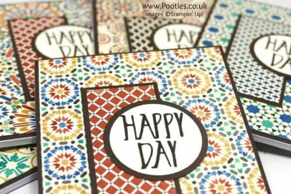 Stampin' Up! Demonstrator Pootles - Perfectly Wrapped Moroccan Welcome Notebooks Close Up