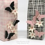 Stampin' Up! Demonstrator Pootles - Playful Palette 6 x 6 Elegant Bag Close up butterflies