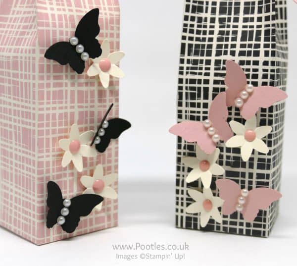 Stampin' Up! Demonstrator Pootles - Playful Palette 6 x 6 Elegant Bag Close up butterflies
