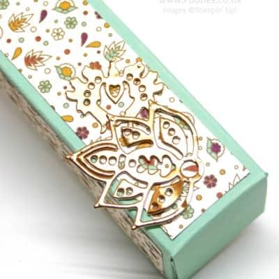 Tall Slender Pretty Box using Petals & Paisleys