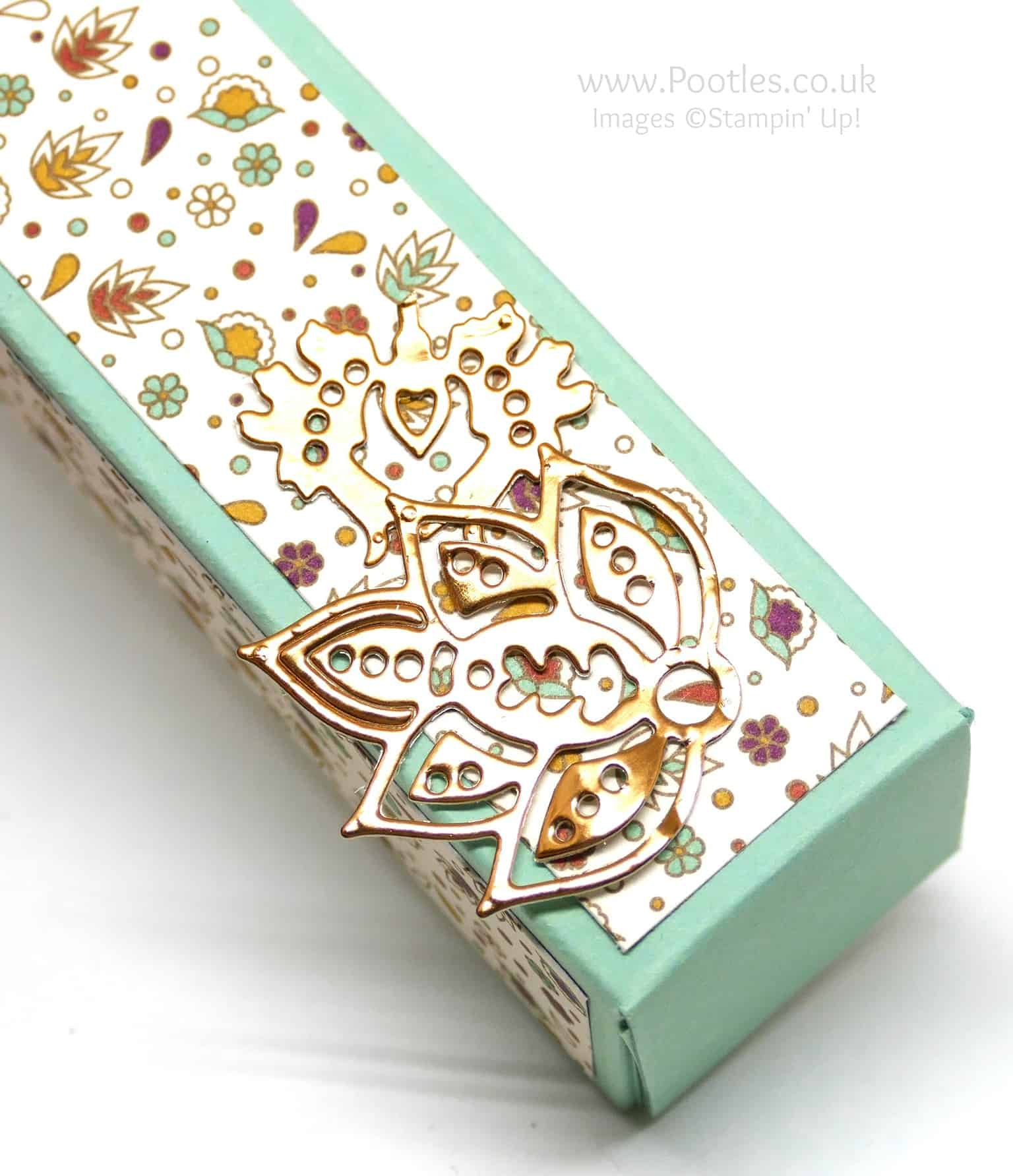 Tall Slender Pretty Box using Petals & Paisleys