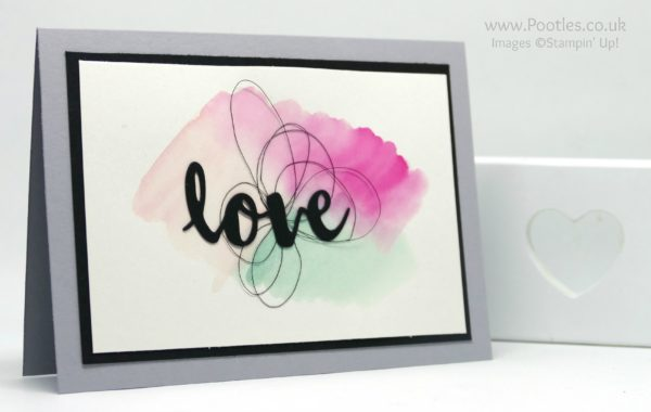 Stampin' Up! Demonstrator Pootles - Watercolour Love using Stampin' Up! Sunshine Wishes