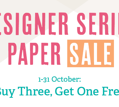 Stampin' Up! Designer Series Paper Sale & World Card Making Day Special Offer