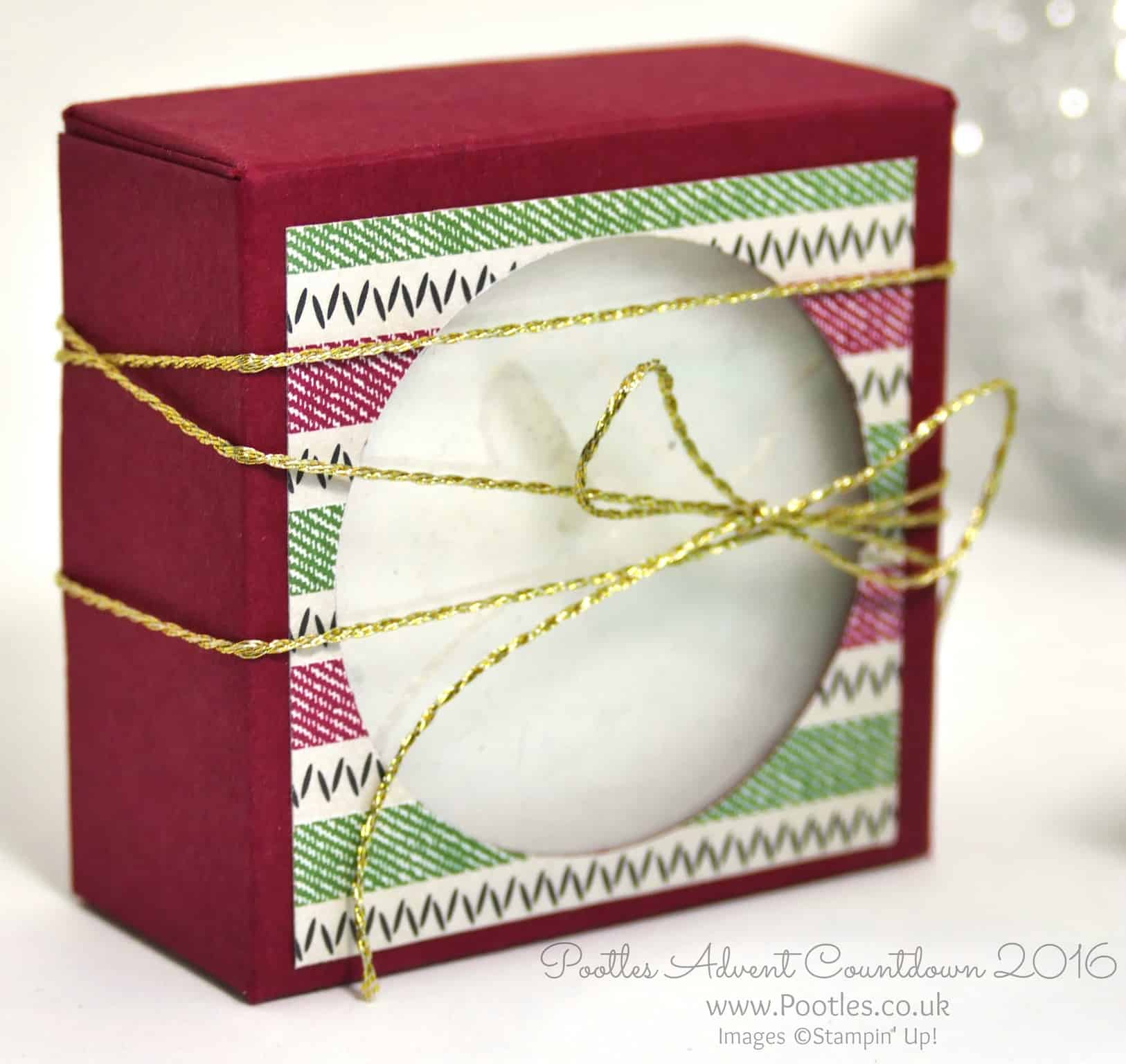 Pootles Advent Countdown 2016 Jumbo Tea Light Window Box