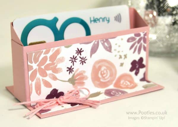 Pootles Way Back Wednesday Business Card Holder Blooms & Bliss