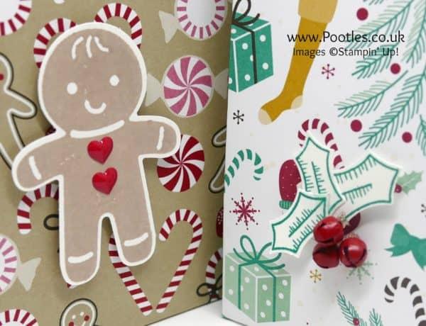 Pootles' Way Back Wednesday Huge Christmas Bag Punch Detail