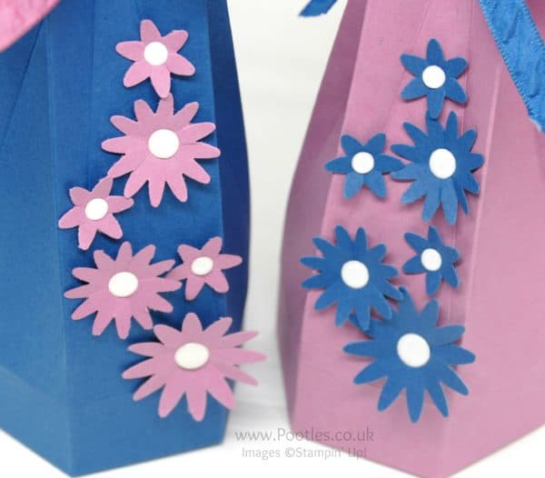 Pootles' Way Back Wednesday Tall Hexagonal Box Blossom Bunch Punch Detail