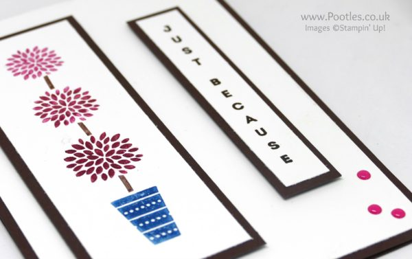 Stampin' Up! Demonstrator Pootles - Colour Your World Blog Hop Vertical Greetings Side Profile