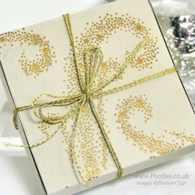 Elegant Gold Embossed Box using Stampin' Up! Star of Light