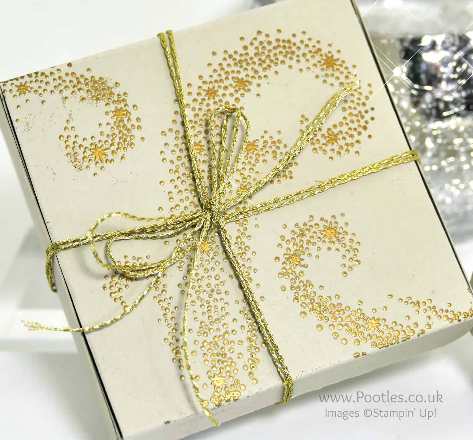 Elegant Gold Embossed Box using Stampin' Up! Star of Light