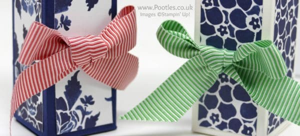 Stampin' Up! Demonstrator Pootles - Fast Floral Box using Floral Boutique Paper In Colour Bows