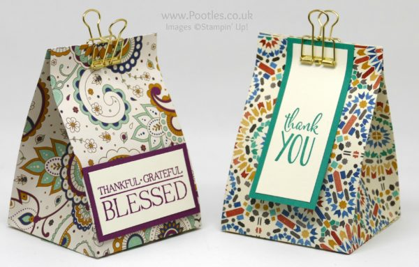 Stampin' Up! Demonstrator Pootles - Fat Squishy Sloping Box using Petals & Paisley DSP