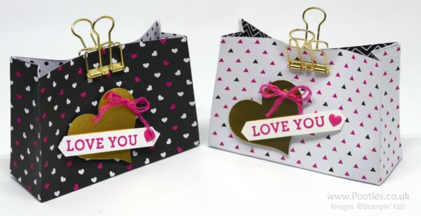 Stampin' Up! Demonstrator Pootles - Pop of Pink Love Heart Bag