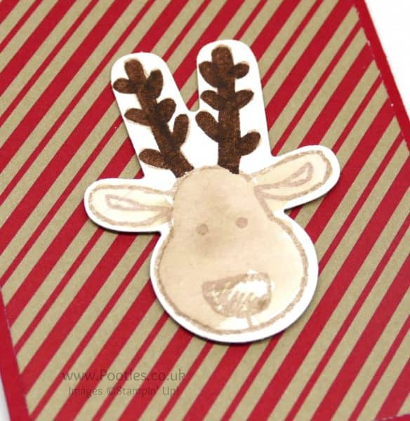 Stampin' Up! Demonstrator Pootles - Thank You Gifts PLUS Tips for the Cookie Cutter Bundle! Watercoloured Reindeer