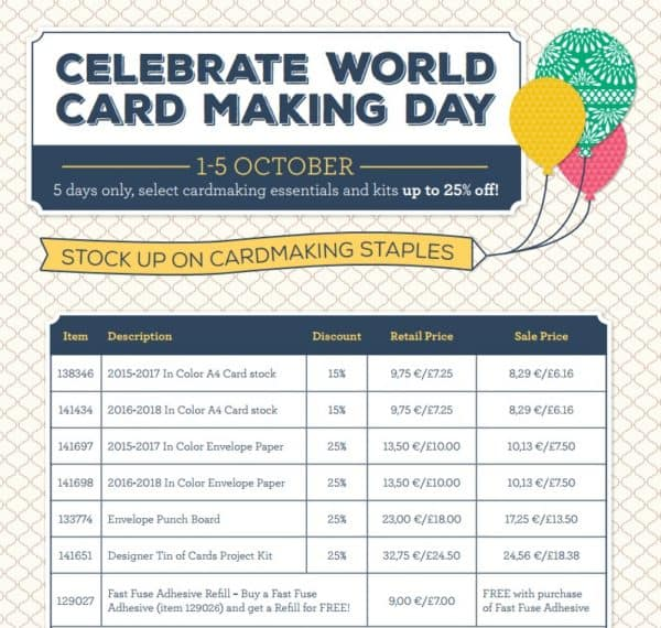 Stampin' Up! World Cardmaking Day Offers