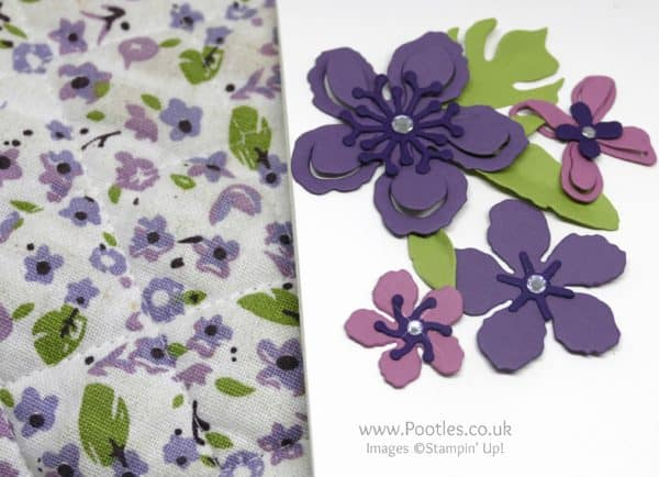 Stampin' Up! Demonstrator Pootles - Botanical Gardens Inspiration from my Oven Gloves Close Up