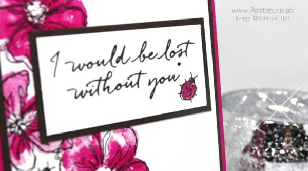 Stampin' Up! Demonstrator Pootles - Penned & Painted with Blooms & Wishes Stamped Greeting
