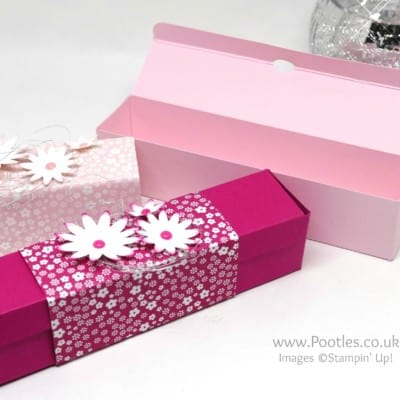 Slender box using Stampin' Up! Blossom Bunch Punch and DSP