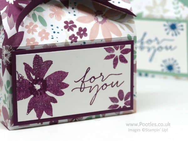Stampin' Up! Demonstrator Pootles - Soft Pretty Box using Stampin' Up! Blooms & Bliss & Wishes Stamping Detail