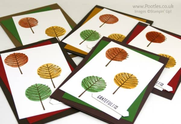 Stampin' Up! Demonstrator Pootles - Totally Trees Thank You Cards Lots