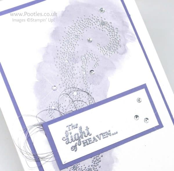 Stampin' Up! Demonstrator Pootles - Wisteria Wonder Watercoloured Star of Light Heat Embossing Detail