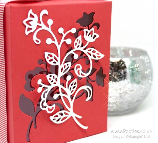 Stampin' Up's Flourish Thinlits used on a Window Box Close Up