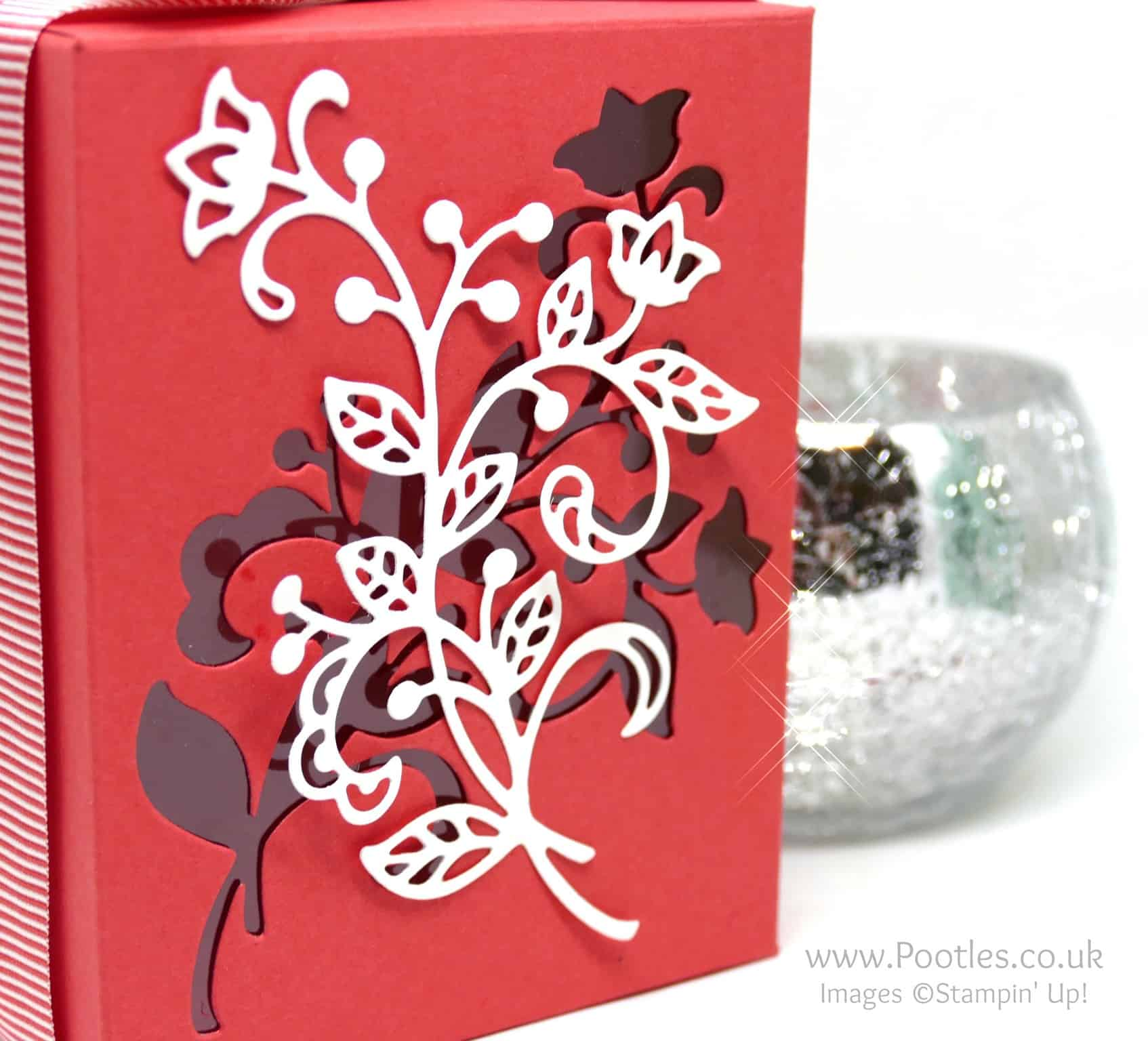 Stampin' Up's Flourish Thinlits used on a Window Box