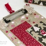 Pootles Advent Countdown 2016 #17 Altered Candy Cane Lane Clipboard