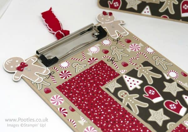 Pootles Advent Countdown 2016 #17 Altered Candy Cane Lane Clipboard Cookie Cutter Punch