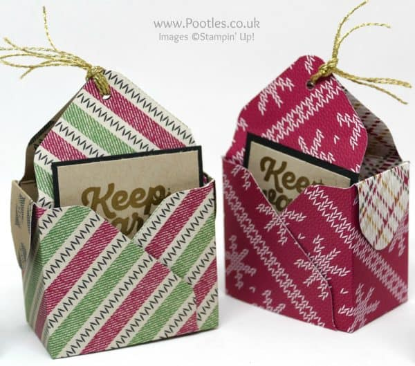 Pootles Advent Countdown 2016 #18 Envelope Punch Board Bag in a Box Chocolate Coin Treats Pair