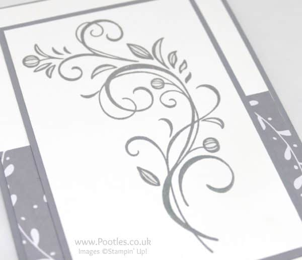 Stampin' Up! Demonstrator Pootles - A Little Foxy Falling Flowers Side Profile