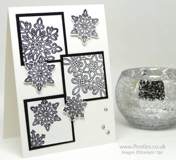 Stampin' Up! Demonstrator Pootles - Black and White Flurry of Wishes