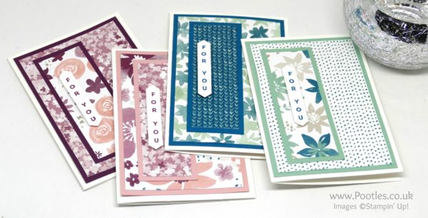 Stampin' Up! Demonstrator Pootles - Blooms & Bliss Customer Thank You Cards
