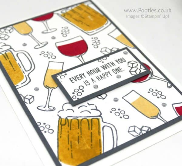 Stampin' Up! Demonstrator Pootles - Colour Your World Blog Hop - Mixed Drinks Rhinestones