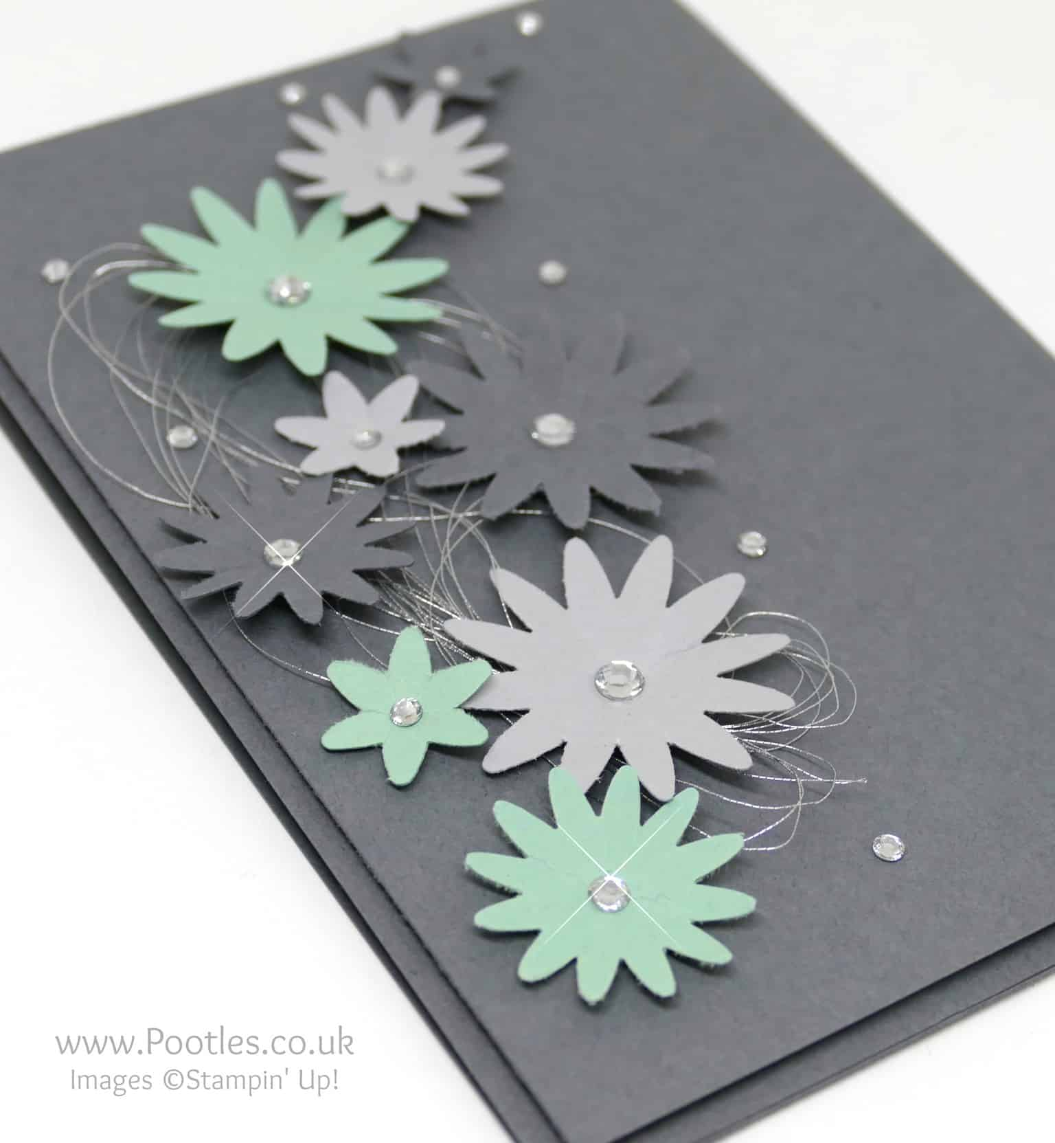 Gentle Mint Flowers and Silvery Grey