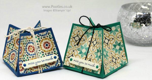 Stampin' Up! Demonstrator Pootles - Gorgeous Box using Moroccan Paper