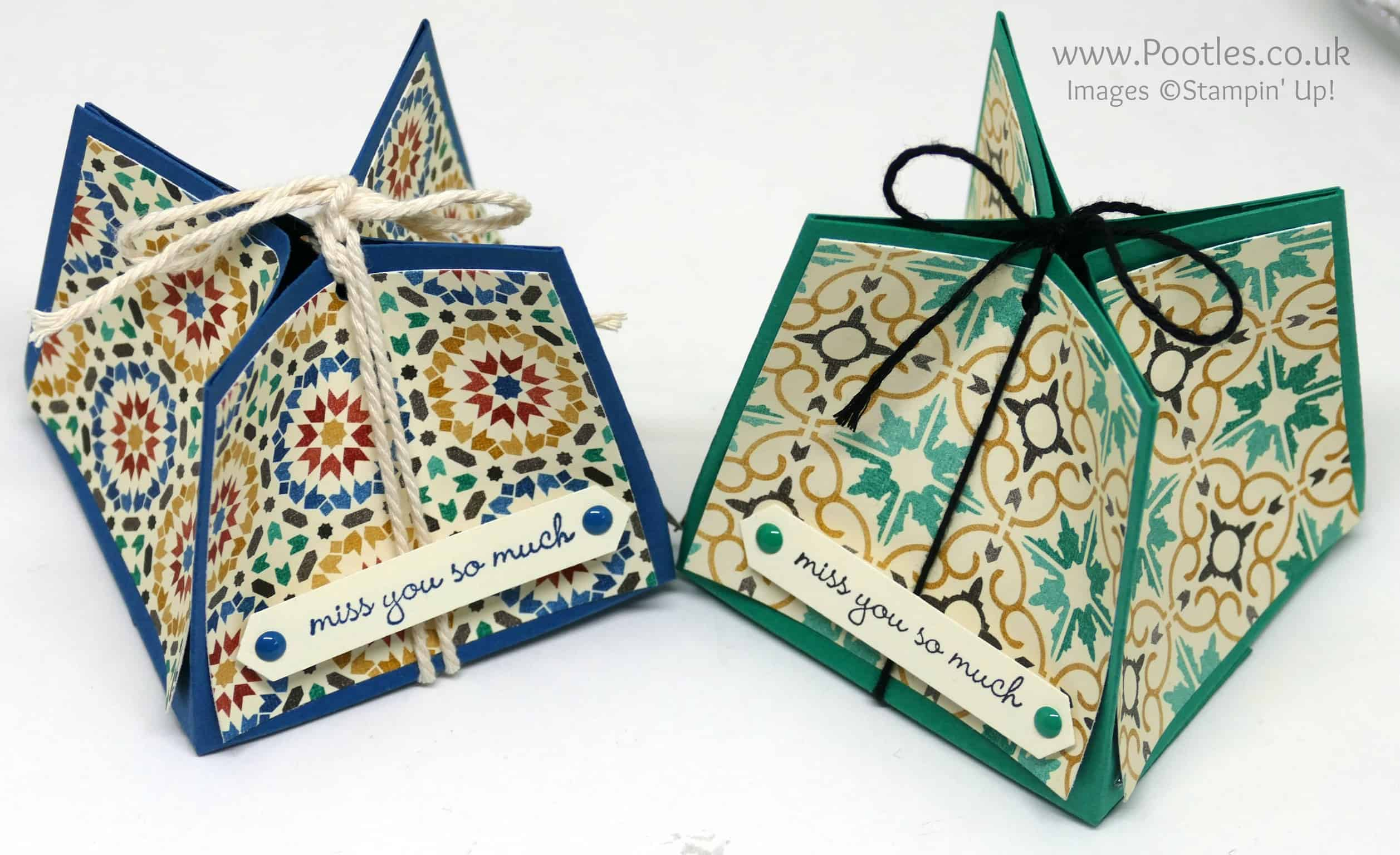 Gorgeous Box using Stampin' Up! Moroccan Paper