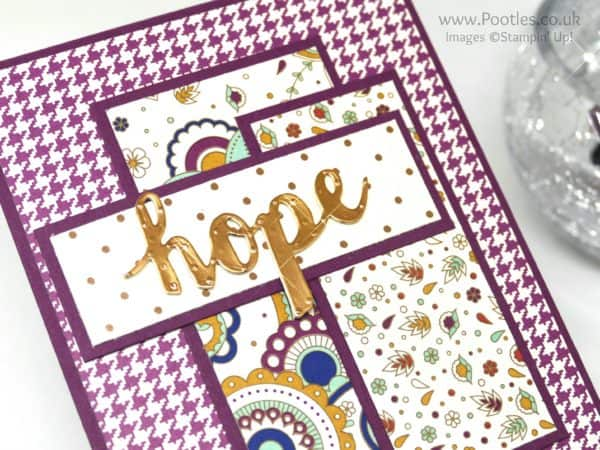 Stampin' Up! Demonstrator Pootles - Petals and Paisleys Sunshine Wishes Copper Foil