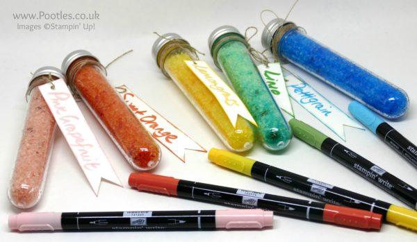 Stampin' Up! Demonstrator Pootles - Stampin' Write Marker Tips & Ideas plus Test Tube Treats