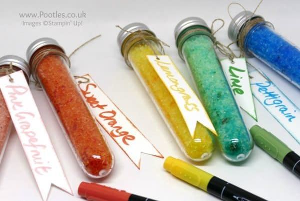 Stampin' Up! Demonstrator Pootles - Stampin' Write Marker Tips & Ideas plus Test Tube Treats Close Up
