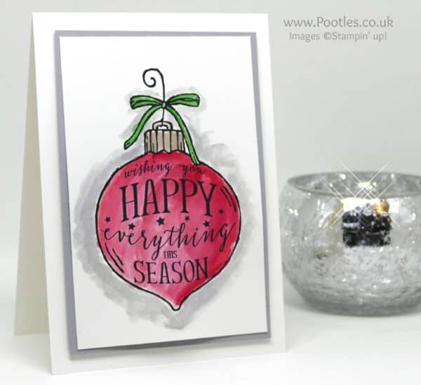 Stampin' Up! Demonstrator Pootles - Watercoloured Happy Ornament
