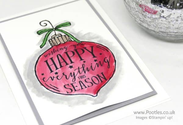 Stampin' Up! Demonstrator Pootles - Watercoloured Happy Ornament Side