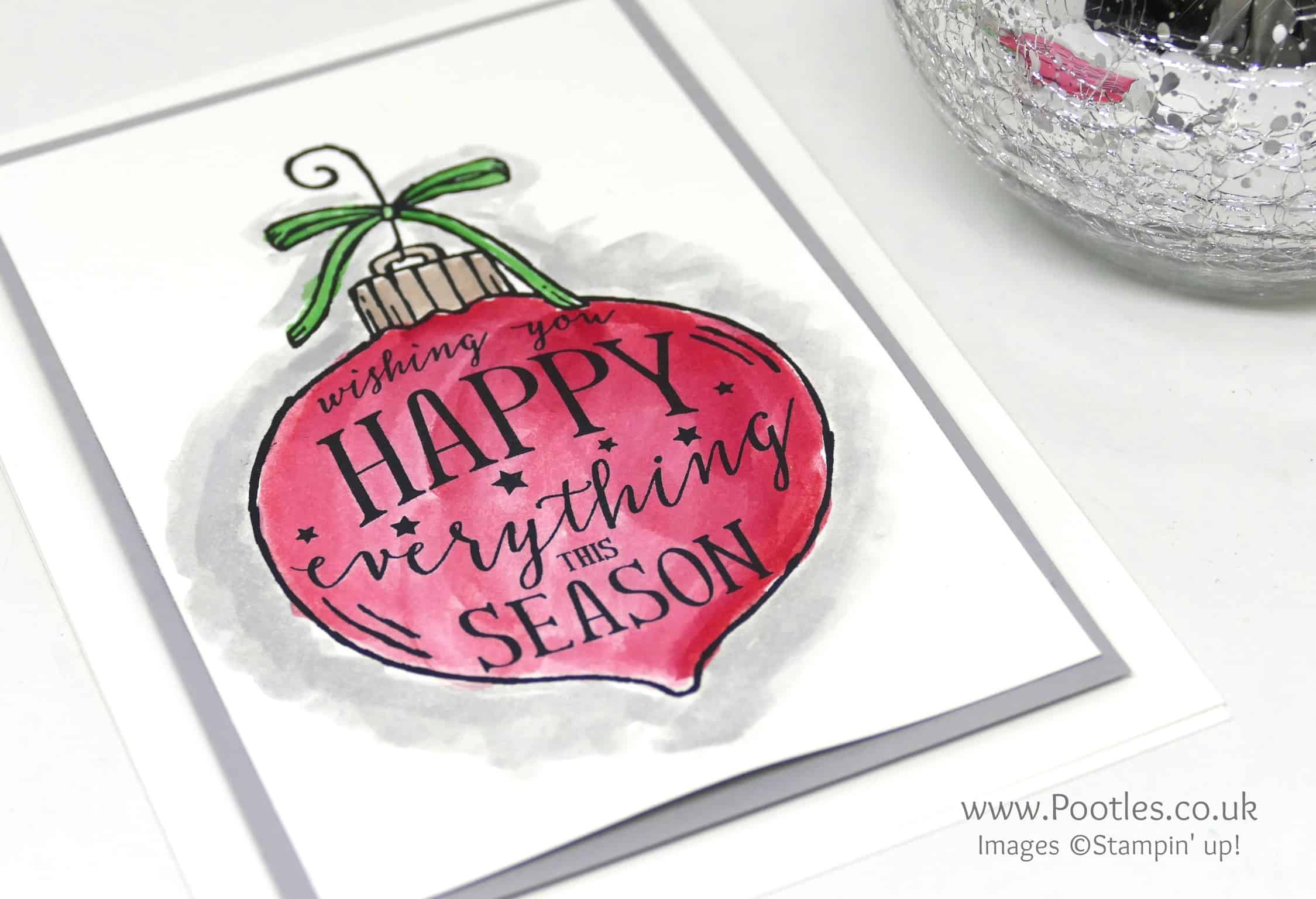 Watercoloured Happy Ornament