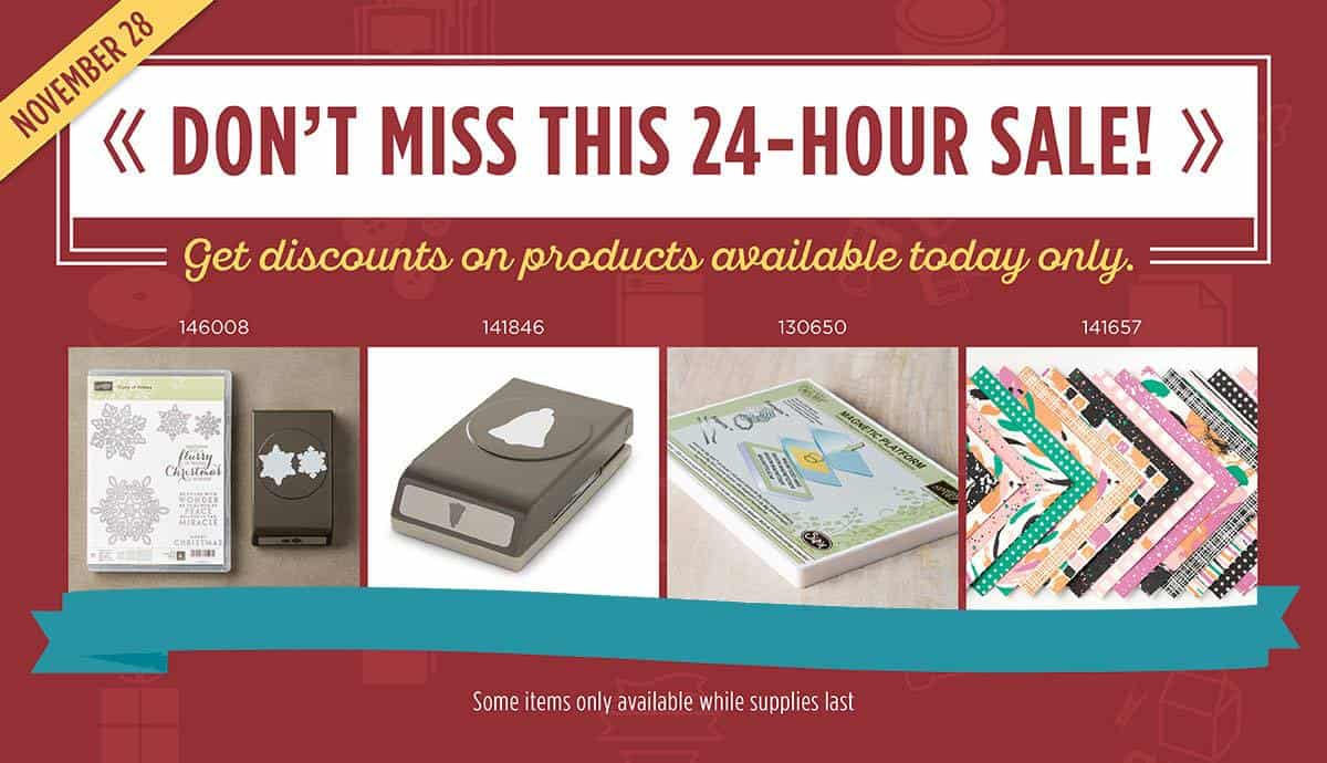 Stampin' Up! Flash Sale and Online Extravaganza Ending