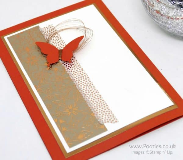Stampin' Up! Demonstrator Pootles - Affectionately Yours with Tangerine Tango & Copper Profile