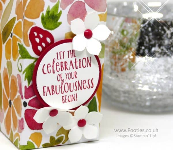 Stampin' Up! Demonstrator Pootles Fruit Stand Tea Light Candle Bag Happy Happenings